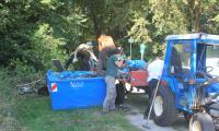 Müllsammelplatz_DaubanerWald_WorldCleaunpDay2019 (Foto: Susanne Bärisch)